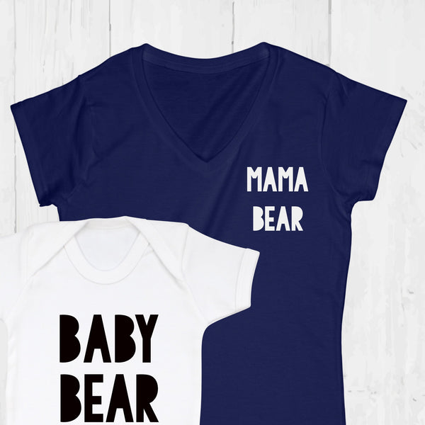 Mama Bear and Baby Bear T Shirt Set, - Betty Bramble