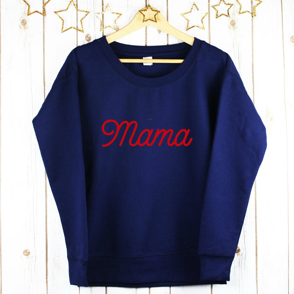 Ladies Mama Sweatshirt,Christmas - Betty Bramble