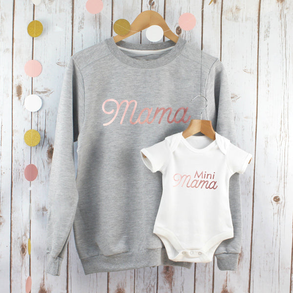 Mama Sweatshirt and Mini Mama Twinning Set,Ladies Sweatshirt - Betty Bramble
