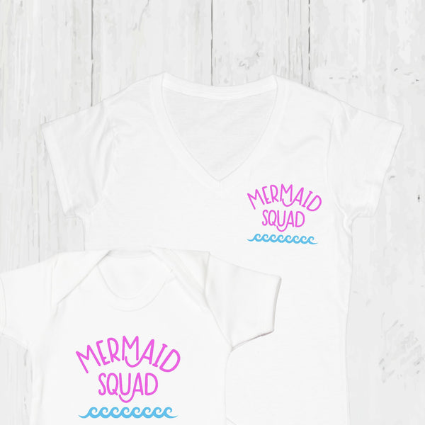 Mermaid Squad Twinning T Shirt Set, - Betty Bramble