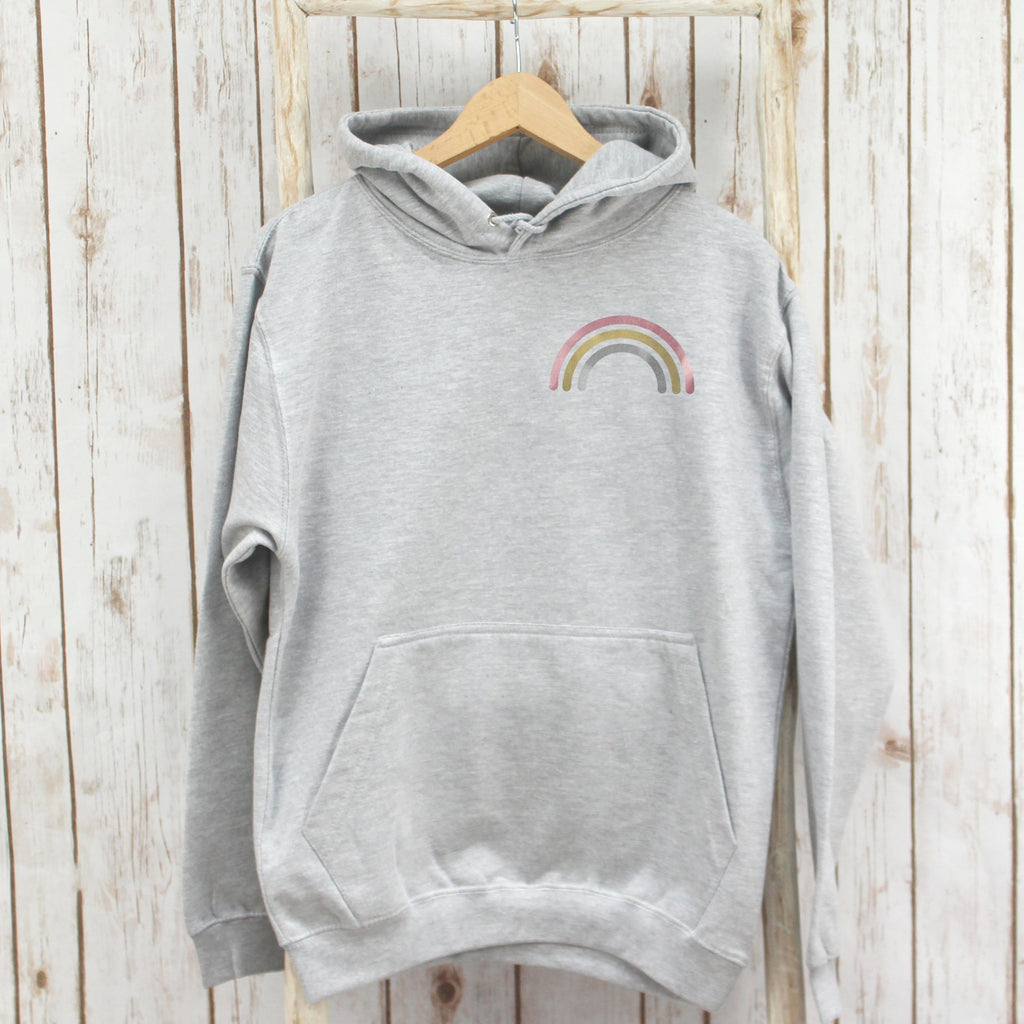 Metallic Rainbow Hooded Sweatshirt,Ladies Sweatshirt - Betty Bramble