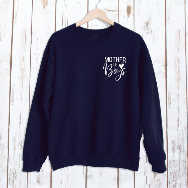 Mother of Boys Ladies Sweatshirt,Ladies Sweatshirt - Betty Bramble