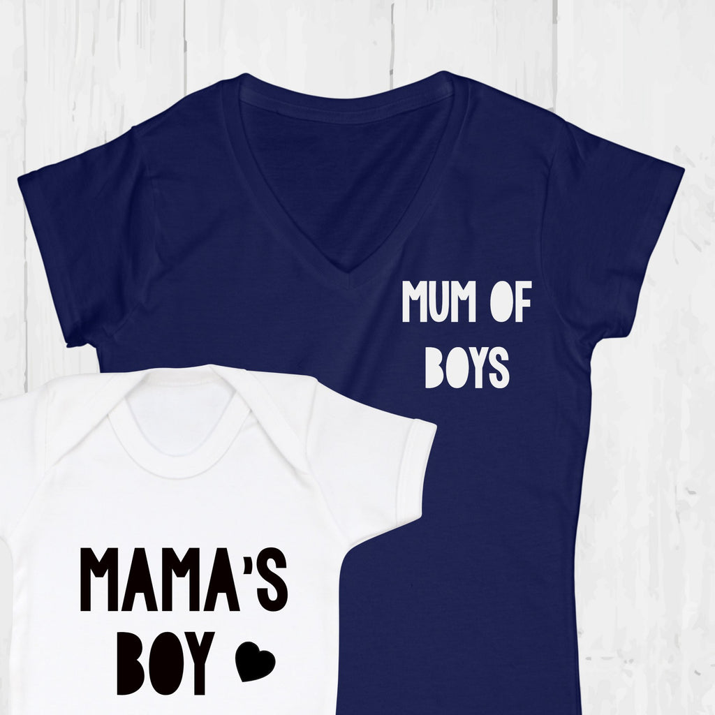Mum of Boys Twinning T Shirt Set