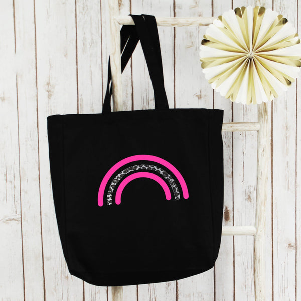 Neon Rainbow Large Shopper Tote Bag, - Betty Bramble