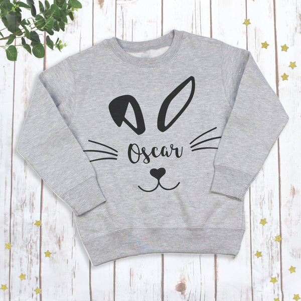 Personalised Easter Bunny Rabbit Children's Sweatshirt, - Betty Bramble