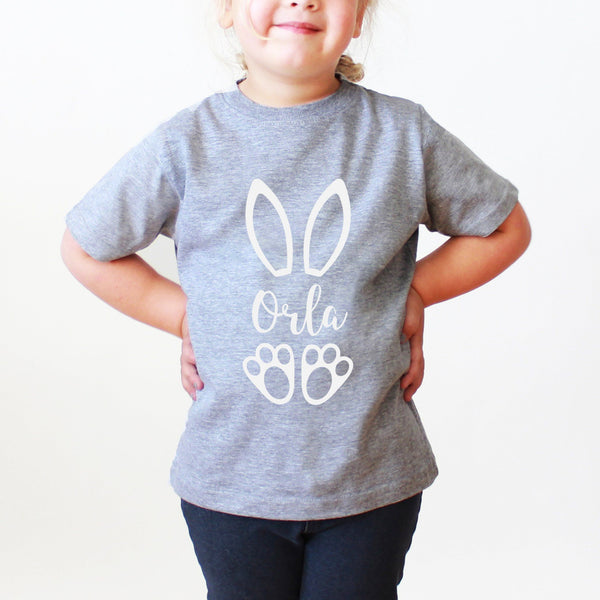 Children's Personalised Easter Rabbit T Shirt