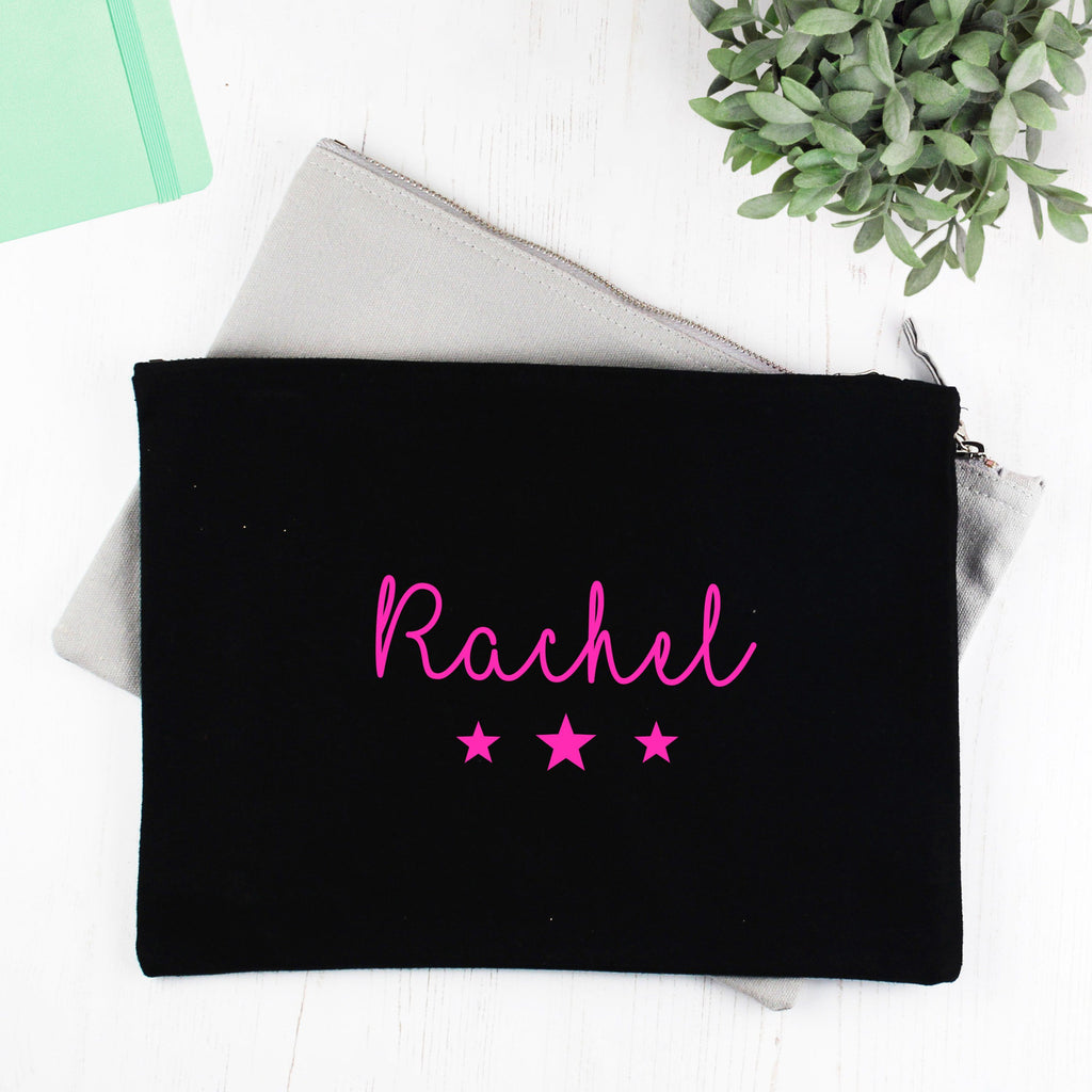Personalised Neon Stars Make Up Bag, - Betty Bramble