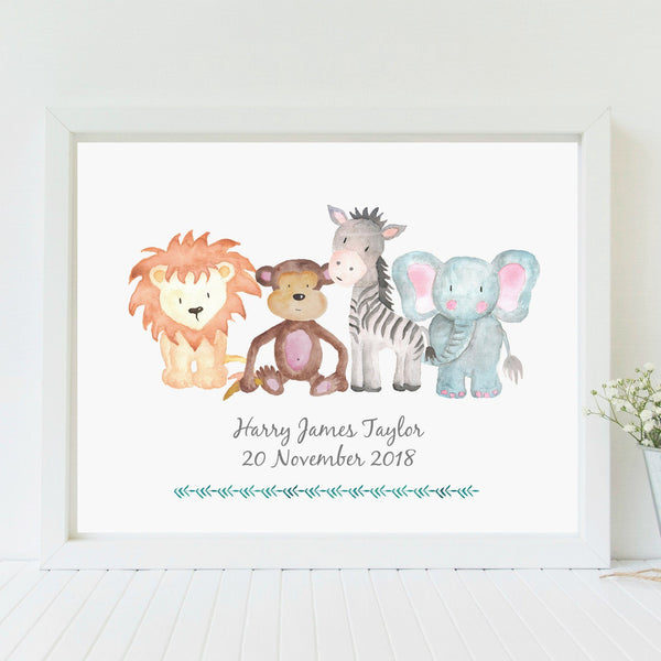 Safari Animals Nursery Print,Art Print - Betty Bramble