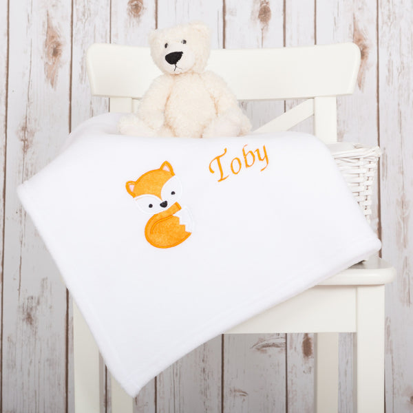 Personalised Fox Baby Blanket,Baby Blankets - Betty Bramble