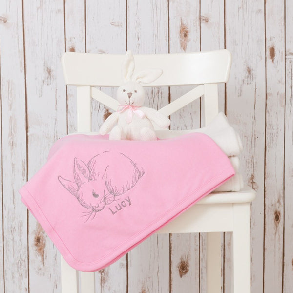 Personalised Bunny Baby Blanket,Baby Blankets - Betty Bramble