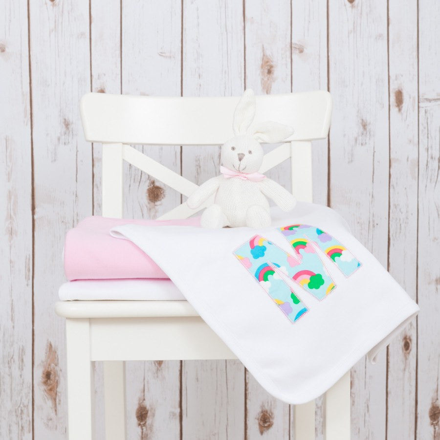 Personalised Rainbow Baby Blanket,Baby Blankets - Betty Bramble