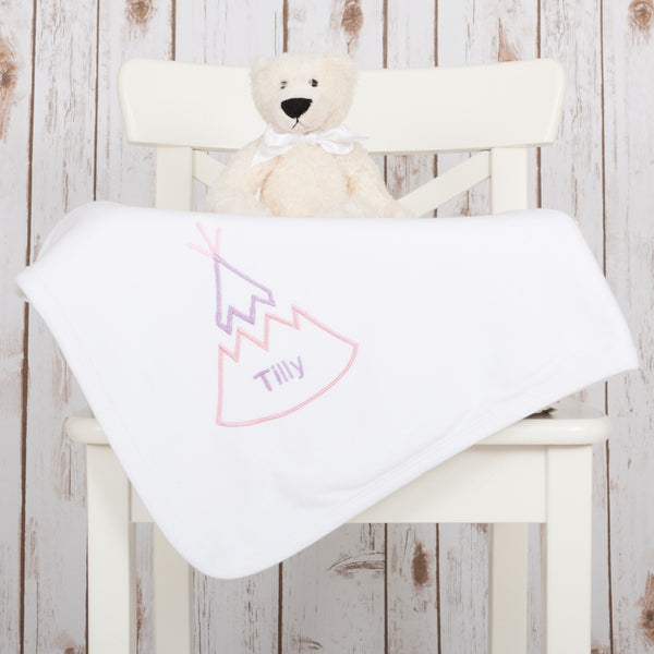 Personalised Teepee Baby Blanket,Baby Blankets - Betty Bramble