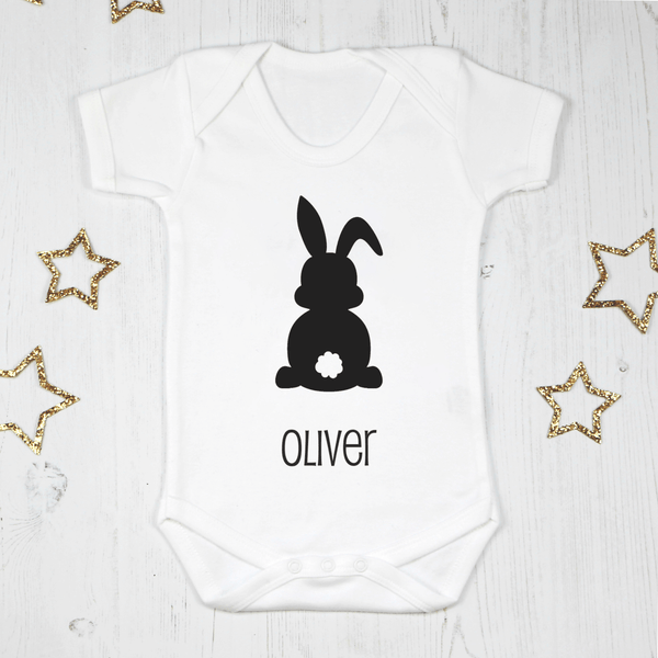 Personalised Easter Bunny Baby Bodysuit, - Betty Bramble