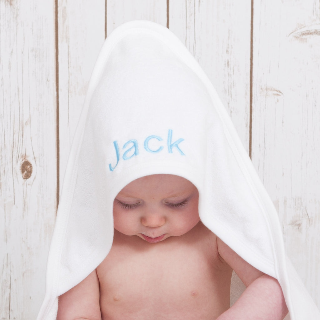 Personalised Hooded Baby Towel,Baby Towels - Betty Bramble