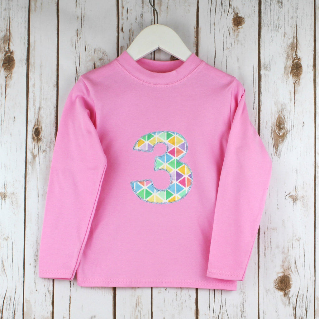Personalised Pastel Geometric T Shirt,Kids T Shirts - Betty Bramble