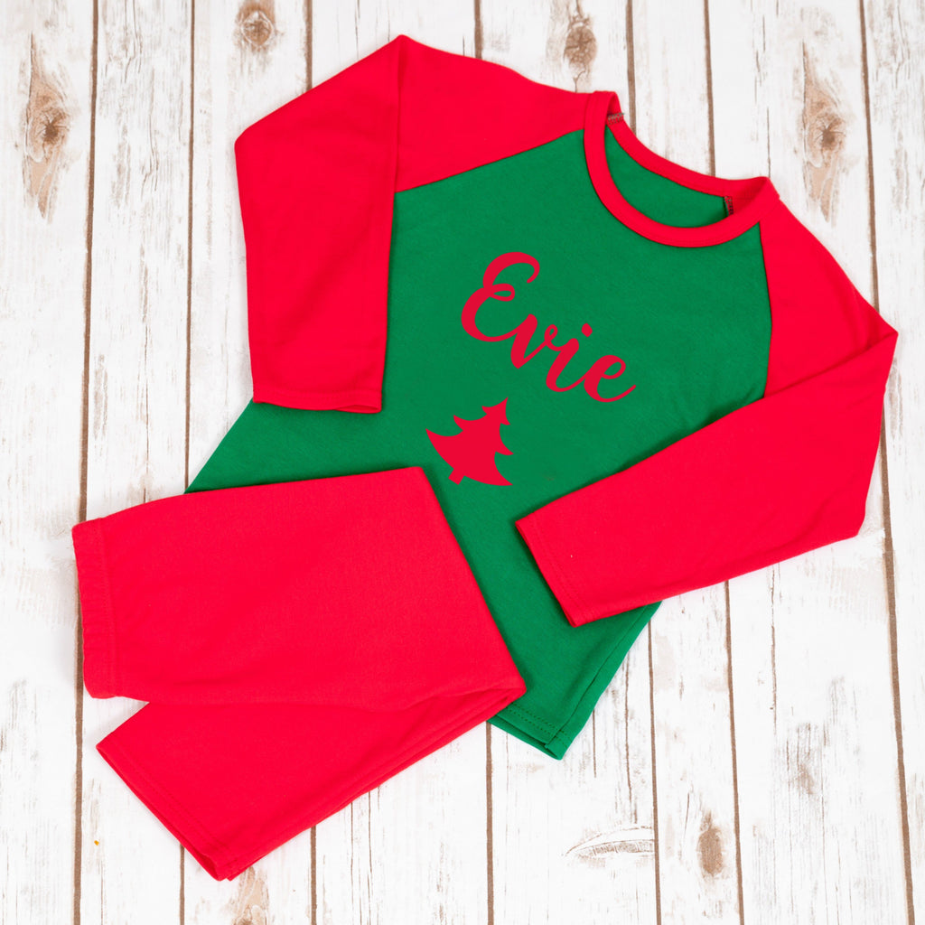 Personalised Christmas Pyjamas - Christmas Tree,Christmas - Betty Bramble
