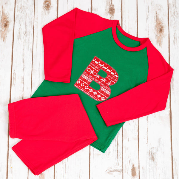 Personalised Christmas Pyjamas - Fair Isle,Christmas - Betty Bramble
