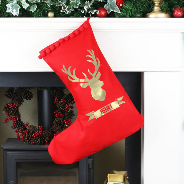 Reindeer Personalised Christmas Stocking,Christmas - Betty Bramble