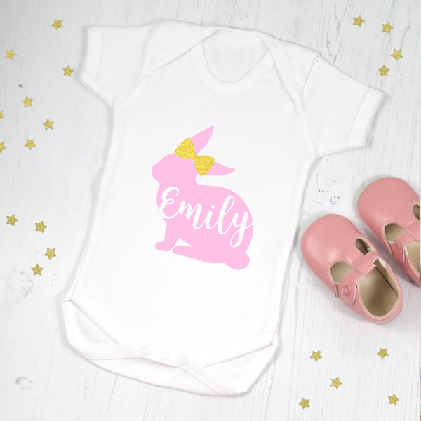 My First Easter Personalised Bunny Bodysuit, - Betty Bramble