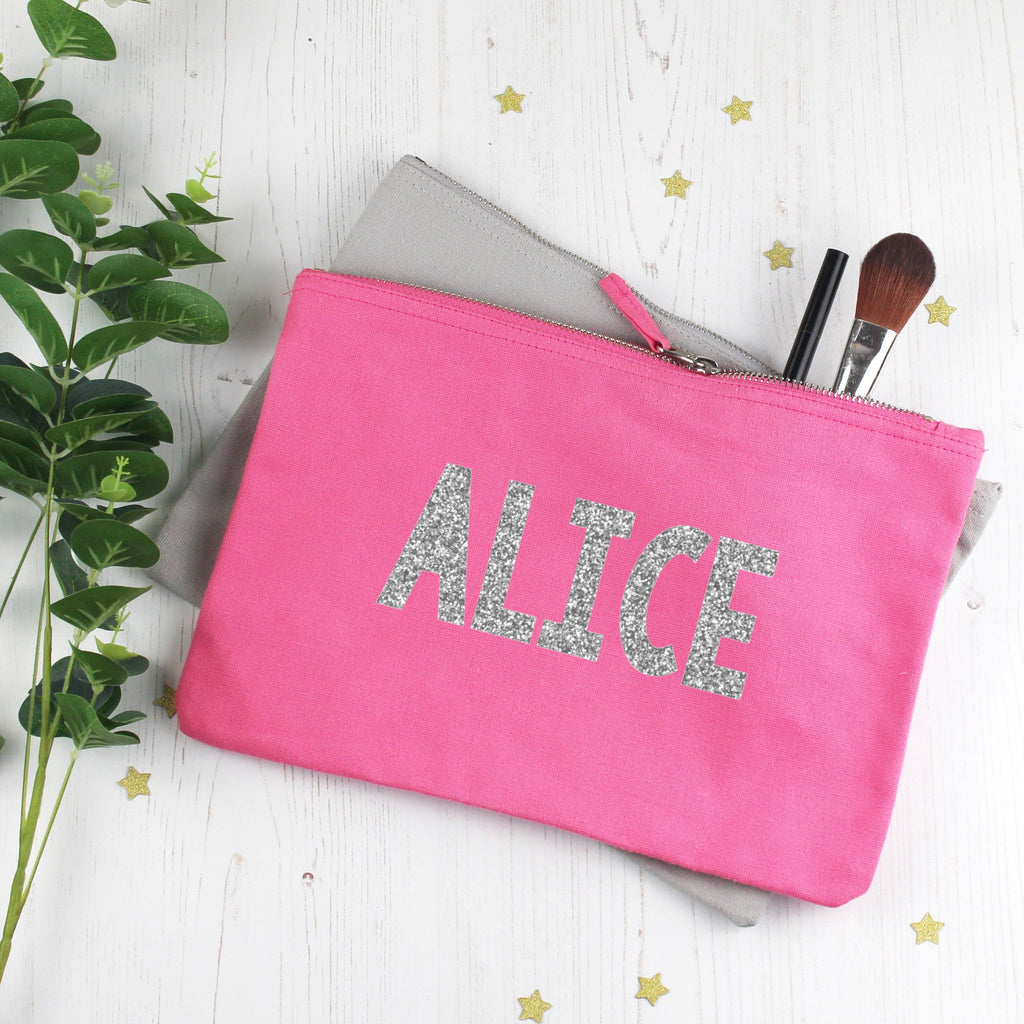 Personalised Glitter Make Up Bag with Name, - Betty Bramble