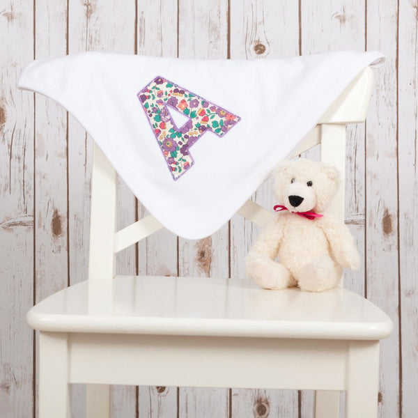 Personalised Liberty Letter Blanket,Baby Blankets - Betty Bramble
