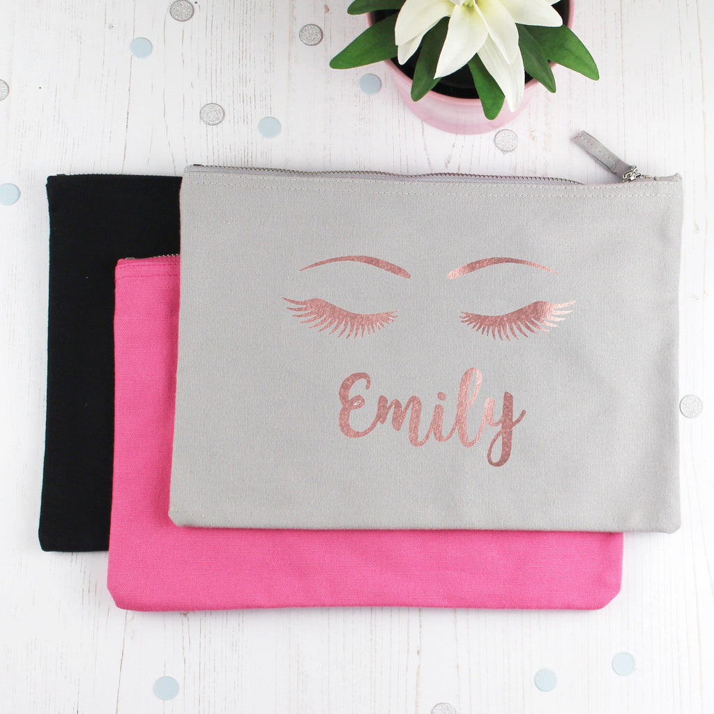 Personalised Make Up Bag with Name and Lashes, - Betty Bramble