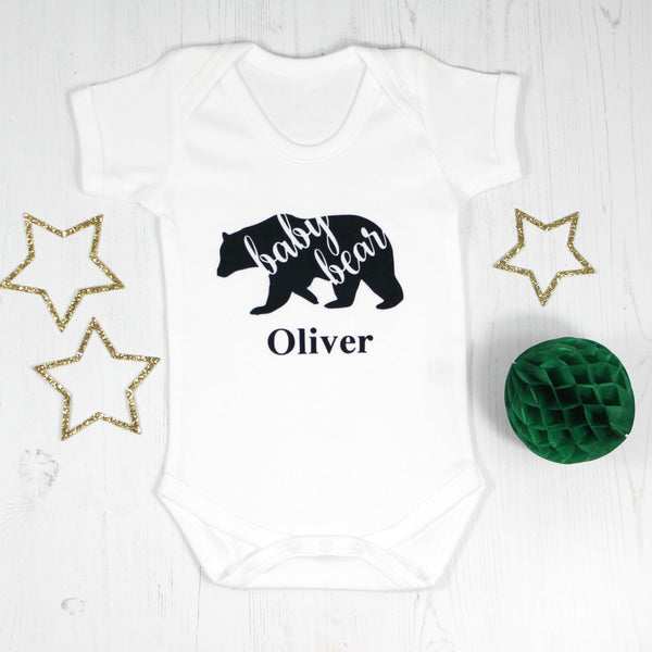 Personalised Baby Bear Bodysuit, - Betty Bramble