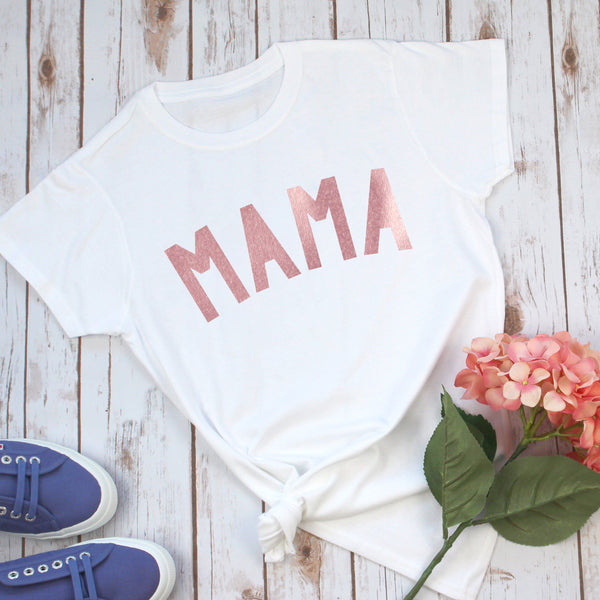 Ladies Rose Gold Mama T-Shirt, - Betty Bramble