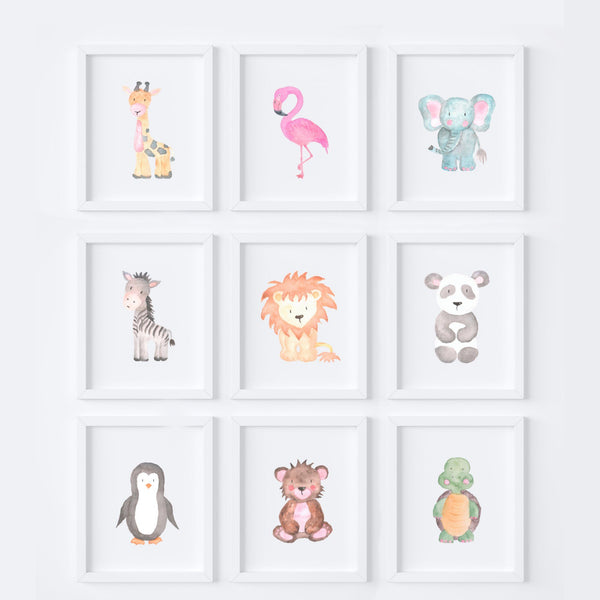 Pick and Mix Animal Nursery Prints,Art Print - Betty Bramble