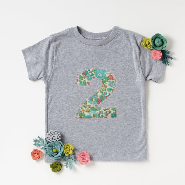 Second Birthday Applique Liberty T Shirt