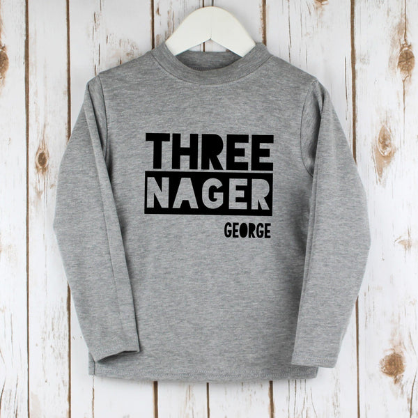 Personalised Third Birthday Three-nager T Shirt, - Betty Bramble