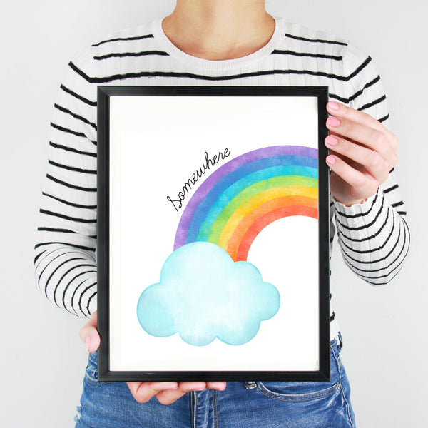 Watercolour Rainbow Wall Art Print for Charity,Art Print - Betty Bramble