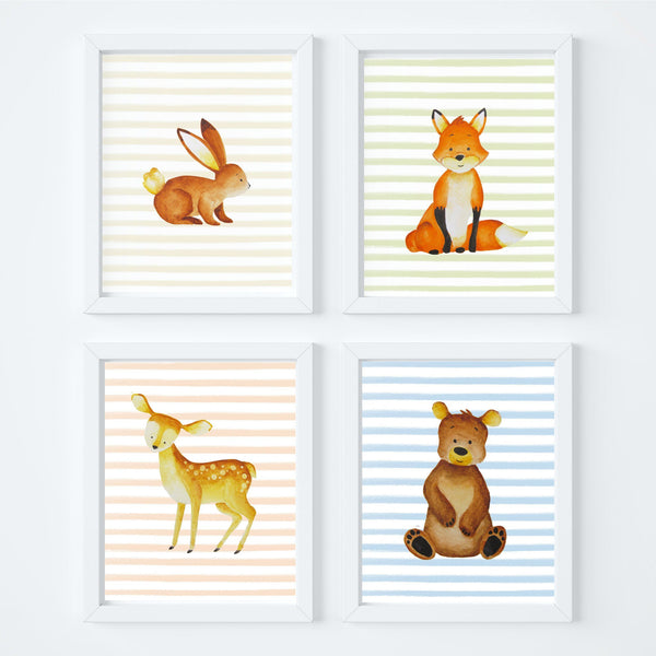 Woodland Animal Nursery Art Print Set,Art Print - Betty Bramble