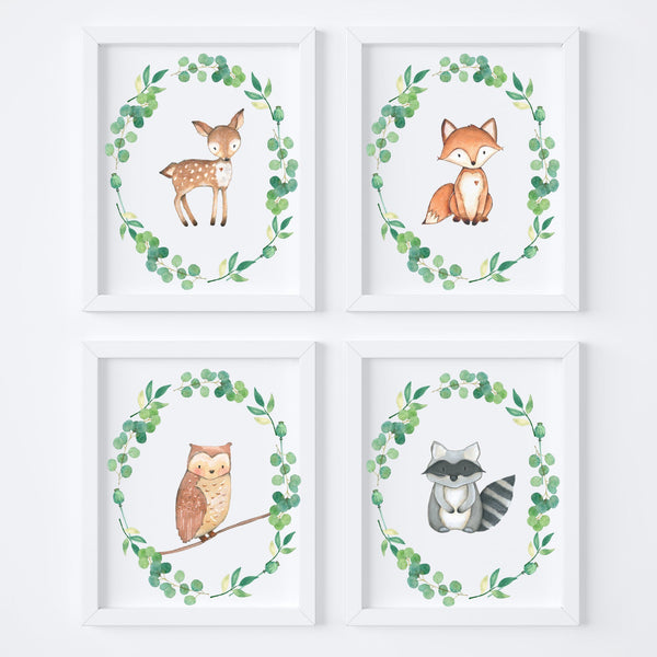 Forest Animals Children's Art Print Set,Art Print - Betty Bramble