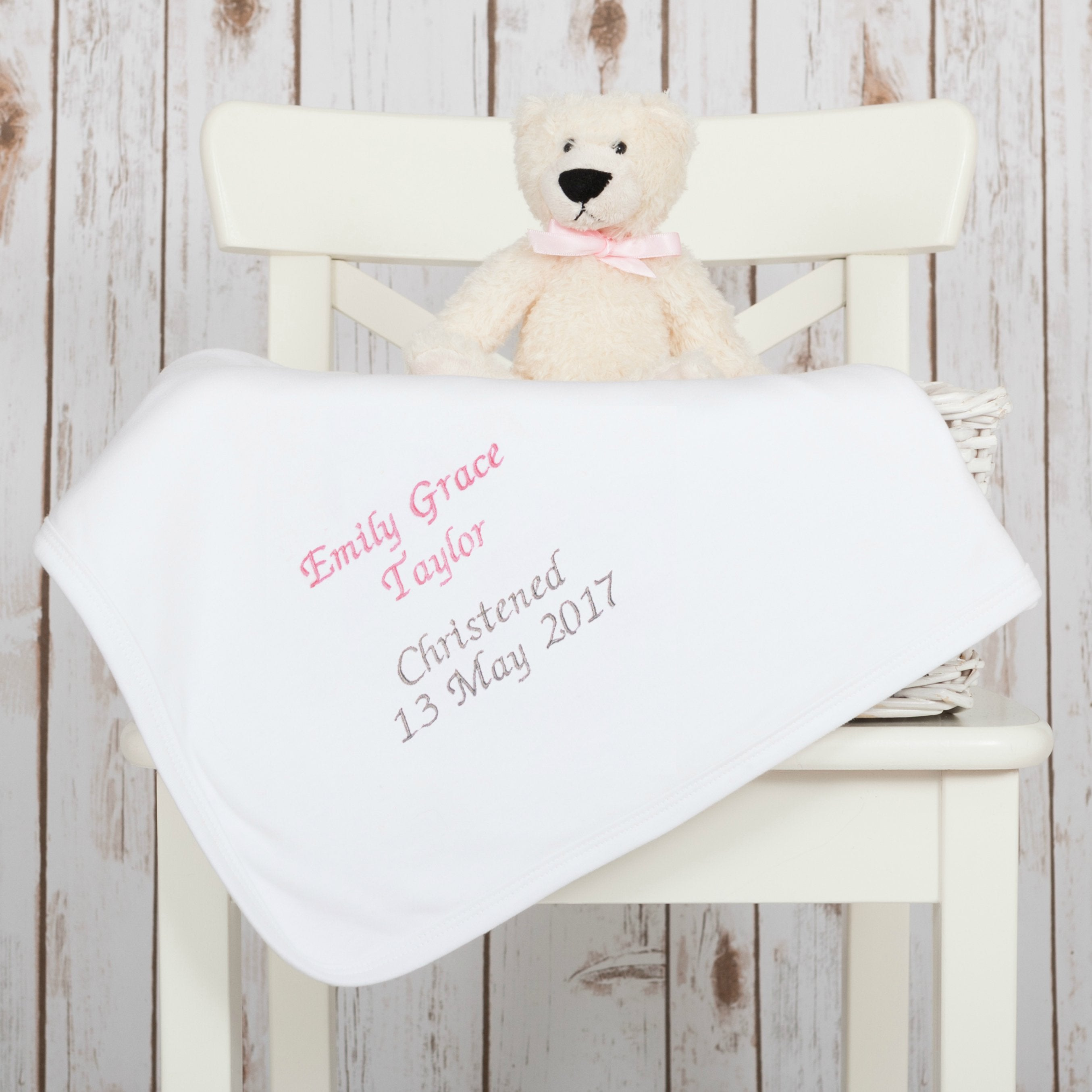 Personalised Baby Blankets - Cotton Baby Christening Blanket – Betty ... 22e8b7bff