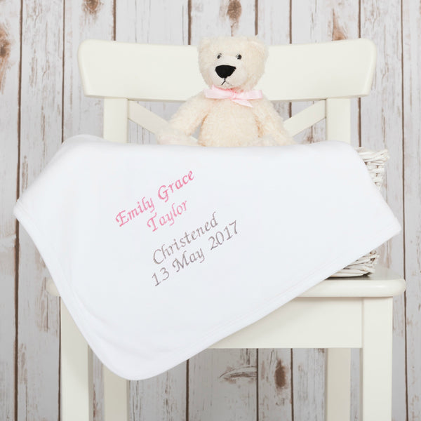 Cotton Baby Christening Blanket,Baby Blankets - Betty Bramble