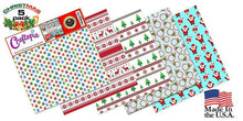 Self Adhesive Craft Vinyl Sheets Christmas Pattern  | 4+1 Assorted Vinyl Pack for Cricut, Silhouette Cameo, Craft Cutters, Printers, Letters, Decals