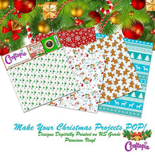 Self Adhesive Craft Vinyl Sheets Christmas Pattern | 4+1 Assorted Vinyl Pack for Cricut, Silhouette Cameo, Craft Cutters, Printers, Letters, Decals PACK 1