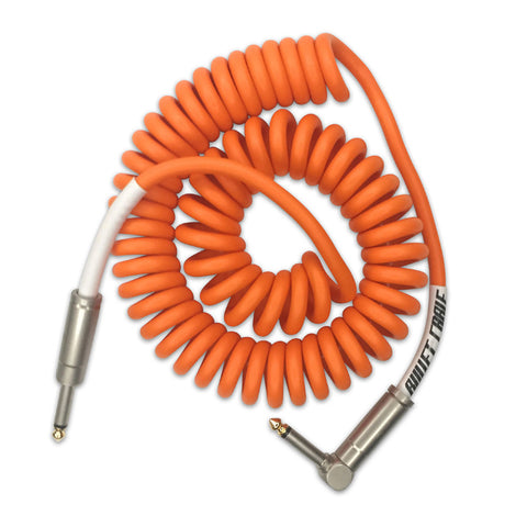 BULLET CABLE 15′ ORANGE COIL CABLE - Bullet Cable