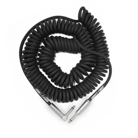 BULLET CABLE 30′ BLACK COIL CABLE - Bullet Cable