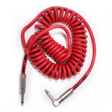 BULLET CABLE 15′ RED COIL CABLE-Mini Coil-Bullet Cable