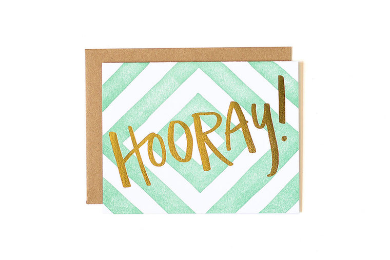 Hooray Greeting Card