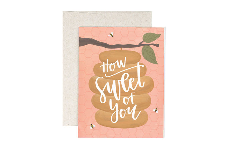 How Sweet Beehive Greeting Card