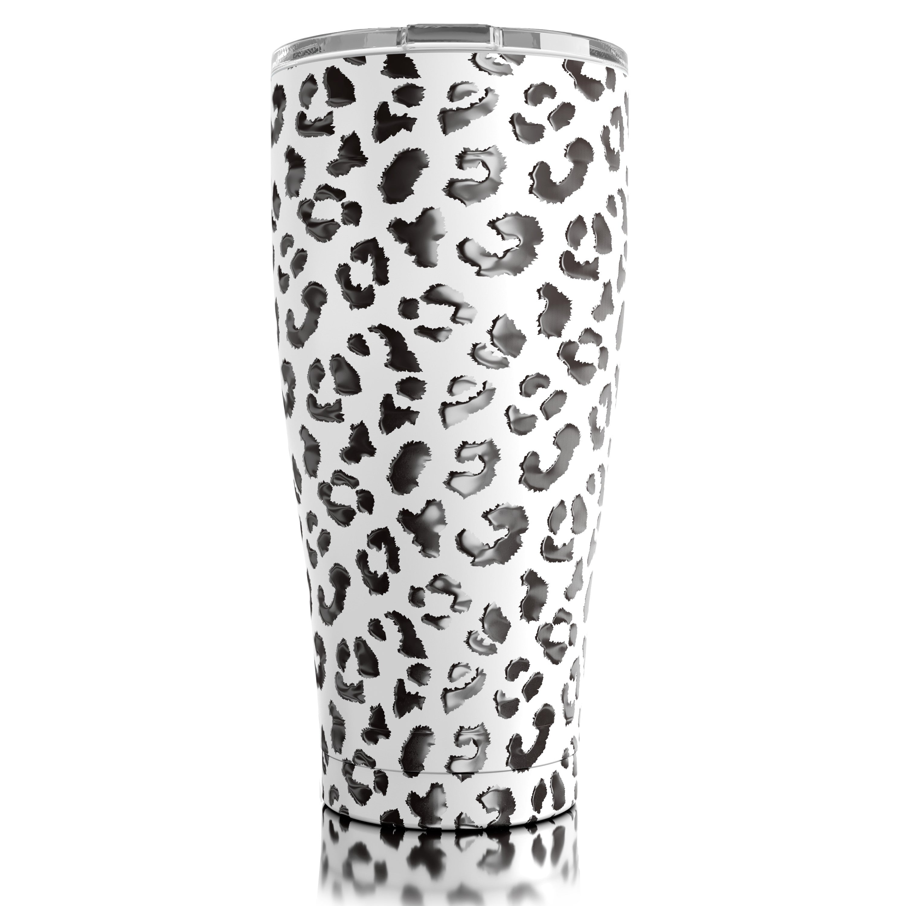 30oz Stainless Steel Leopard Tumbler