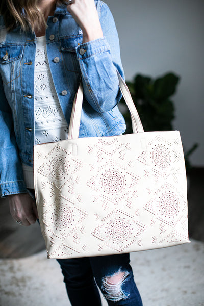 Western Traveler Tote (Stone)