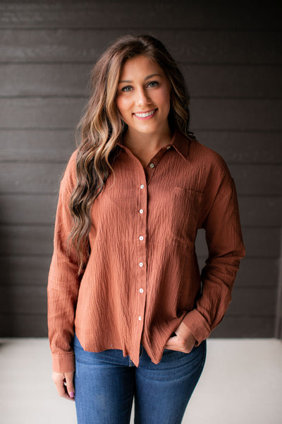 Caramel Latté Button Up