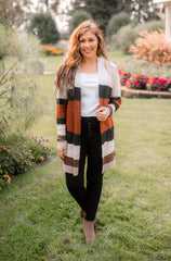 Caramel Latté Color Block Cardigan