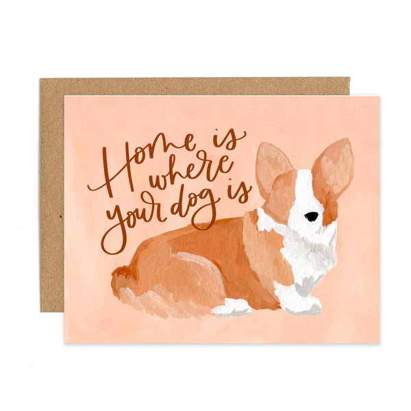 Corgi Home Greeting Card