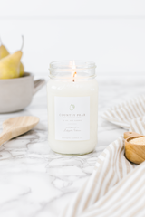 Country Pear 16 oz Mason Jar Candle