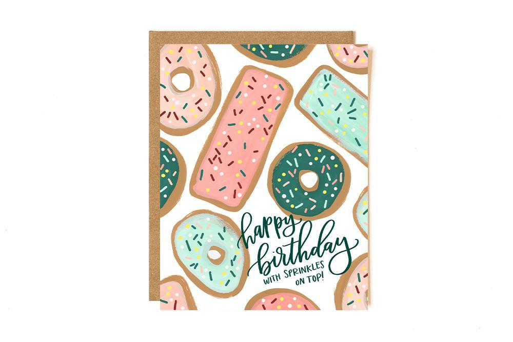 Donut Birthday Greeting Card